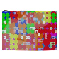 Abstract Polka Dot Pattern Digitally Created Abstract Background Pattern With An Urban Feel Cosmetic Bag (XXL)