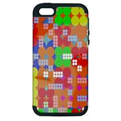 Abstract Polka Dot Pattern Digitally Created Abstract Background Pattern With An Urban Feel Apple Iphone 5 Hardshell Case (pc+silicone)