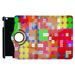Abstract Polka Dot Pattern Digitally Created Abstract Background Pattern With An Urban Feel Apple iPad 2 Flip 360 Case