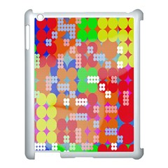Abstract Polka Dot Pattern Digitally Created Abstract Background Pattern With An Urban Feel Apple iPad 3/4 Case (White)
