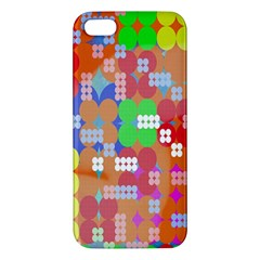 Abstract Polka Dot Pattern Digitally Created Abstract Background Pattern With An Urban Feel iPhone 5S/ SE Premium Hardshell Case