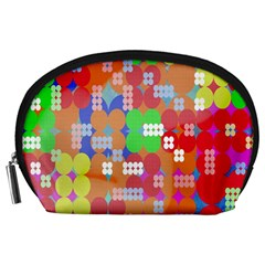 Abstract Polka Dot Pattern Digitally Created Abstract Background Pattern With An Urban Feel Accessory Pouches (large)