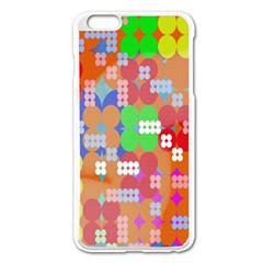 Abstract Polka Dot Pattern Digitally Created Abstract Background Pattern With An Urban Feel Apple Iphone 6 Plus/6s Plus Enamel White Case