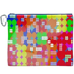 Abstract Polka Dot Pattern Digitally Created Abstract Background Pattern With An Urban Feel Canvas Cosmetic Bag (xxxl)