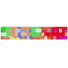 Abstract Polka Dot Pattern Digitally Created Abstract Background Pattern With An Urban Feel Flano Scarf (large)