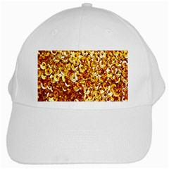 Yellow Abstract Background White Cap