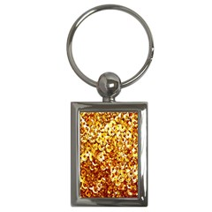 Yellow Abstract Background Key Chains (Rectangle)