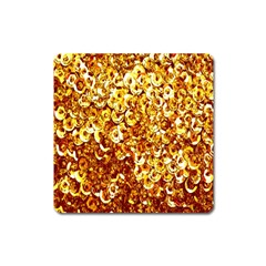 Yellow Abstract Background Square Magnet