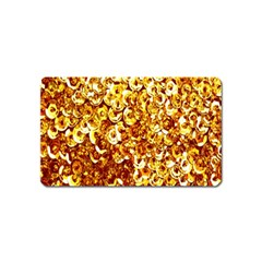 Yellow Abstract Background Magnet (Name Card)