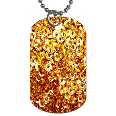 Yellow Abstract Background Dog Tag (One Side)