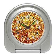 Yellow Abstract Background Travel Alarm Clocks