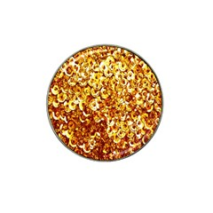 Yellow Abstract Background Hat Clip Ball Marker (10 Pack)