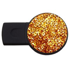 Yellow Abstract Background USB Flash Drive Round (4 GB)