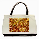 Yellow Abstract Background Basic Tote Bag Front