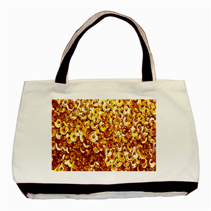 Yellow Abstract Background Basic Tote Bag