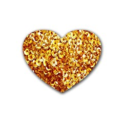 Yellow Abstract Background Heart Coaster (4 pack)