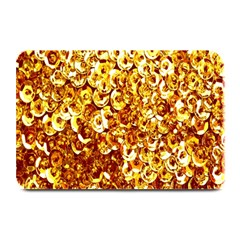 Yellow Abstract Background Plate Mats