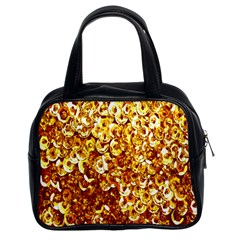 Yellow Abstract Background Classic Handbags (2 Sides)