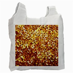 Yellow Abstract Background Recycle Bag (two Side)