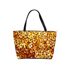 Yellow Abstract Background Shoulder Handbags