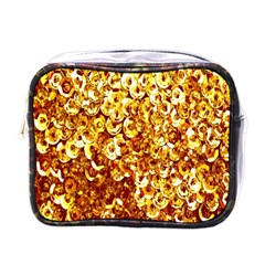 Yellow Abstract Background Mini Toiletries Bags