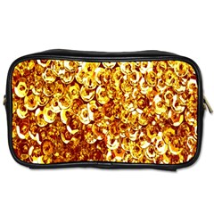 Yellow Abstract Background Toiletries Bags