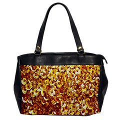 Yellow Abstract Background Office Handbags