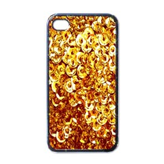 Yellow Abstract Background Apple iPhone 4 Case (Black)