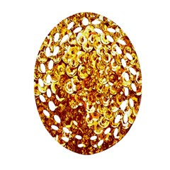 Yellow Abstract Background Ornament (Oval Filigree)