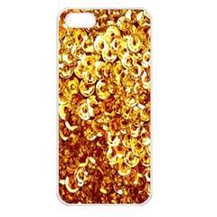 Yellow Abstract Background Apple iPhone 5 Seamless Case (White)