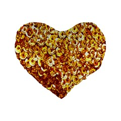 Yellow Abstract Background Standard 16  Premium Heart Shape Cushions