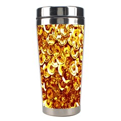 Yellow Abstract Background Stainless Steel Travel Tumblers