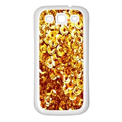 Yellow Abstract Background Samsung Galaxy S3 Back Case (White)