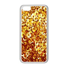 Yellow Abstract Background Apple Iphone 5c Seamless Case (white)