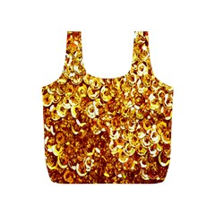 Yellow Abstract Background Full Print Recycle Bags (S)