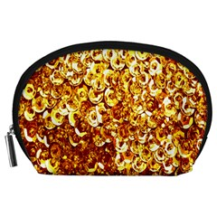 Yellow Abstract Background Accessory Pouches (large)