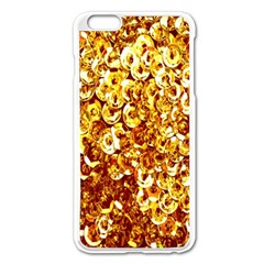 Yellow Abstract Background Apple Iphone 6 Plus/6s Plus Enamel White Case