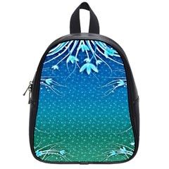 Floral 2d Illustration Background School Bags (Small)