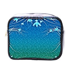 Floral 2d Illustration Background Mini Toiletries Bags