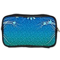 Floral 2d Illustration Background Toiletries Bags 2-Side