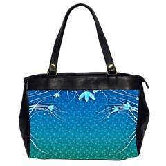 Floral 2d Illustration Background Office Handbags (2 Sides)