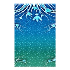 Floral 2d Illustration Background Shower Curtain 48  x 72  (Small)