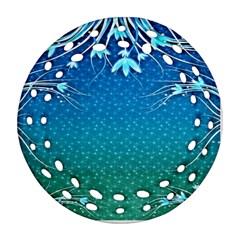 Floral 2d Illustration Background Ornament (Round Filigree)