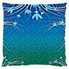 Floral 2d Illustration Background Large Cushion Case (Two Sides)