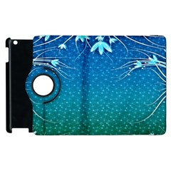 Floral 2d Illustration Background Apple Ipad 3/4 Flip 360 Case
