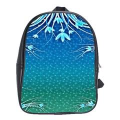 Floral 2d Illustration Background School Bags (xl)