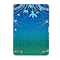 Floral 2d Illustration Background Samsung Galaxy Tab 2 (10.1 ) P5100 Hardshell Case