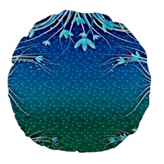 Floral 2d Illustration Background Large 18  Premium Flano Round Cushions