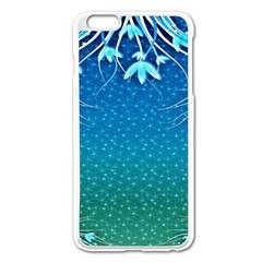 Floral 2d Illustration Background Apple Iphone 6 Plus/6s Plus Enamel White Case