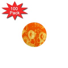 Retro Orange Circle Background Abstract 1  Mini Magnets (100 pack)